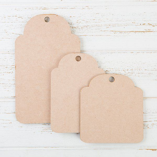 Be Creative MDF Rounded Tags
