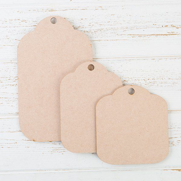 Be Creative MDF Scalloped Tags