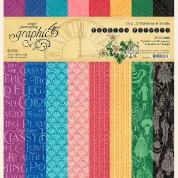 Graphic 45 Fashion Forward 12x12 Patterns & Solids Pad