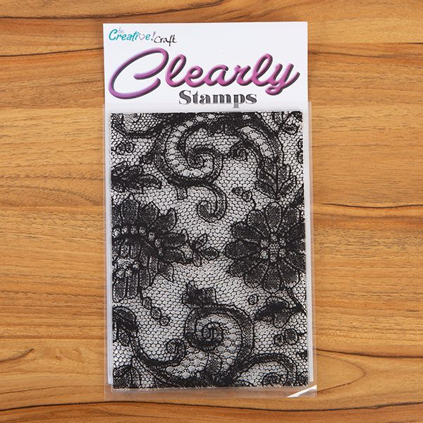 A5 Lace Background stamp