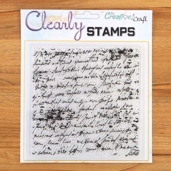 7x7 Antique Script background stamp
