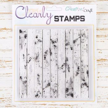 7x7 Distressed wood background stamp