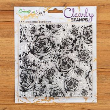 7x7 Tattered Rose background stamp