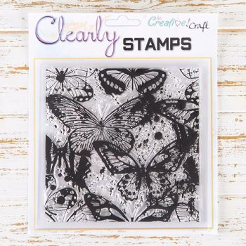 7x7 Butterfly Splash Background stamp