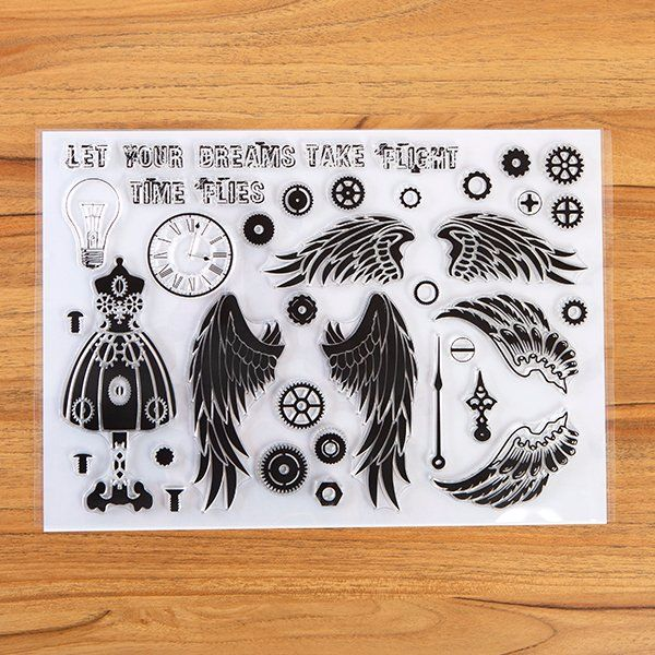 A4 Clear Stamp set : Steampunk Dreams