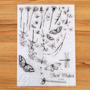 A4 Spring Meadow set of clear stamps