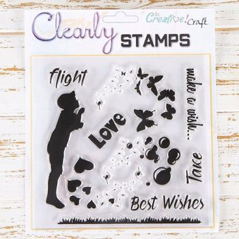 7x7 - Make a Wish clear stamp set