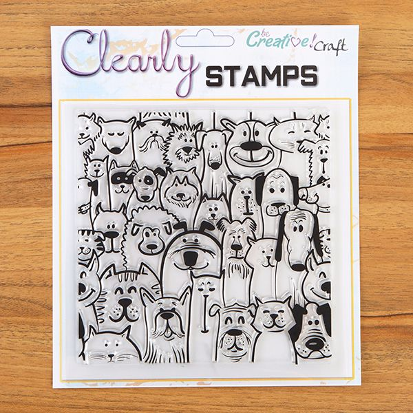 Furry Friends 7x7 clear stamp set
