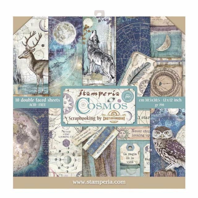 New Product : Stamperia Cosmos 12 x 12 paper pad