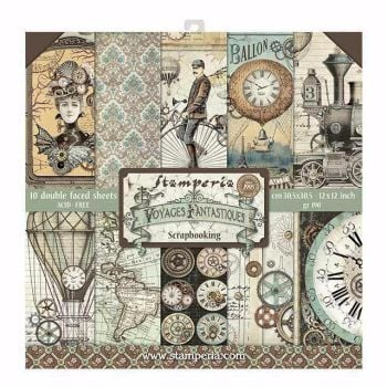 New Product : Stamperia Voyages Fantastique 12 x 12 paper pad