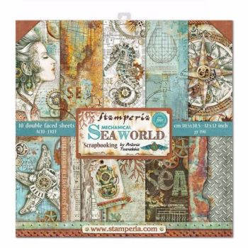 New Product : Stamperia Mechanical Sea World 12 x 12 paper pad