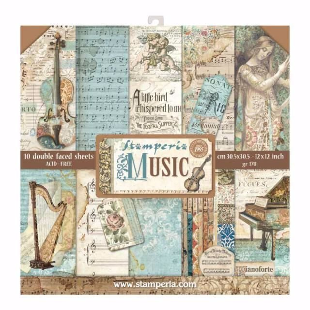 New Product : Stamperia Music 12 x 12 paper pad