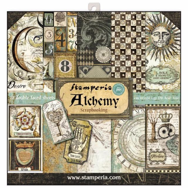 New Product : Stamperia Alchemy 12 x 12 paper pad