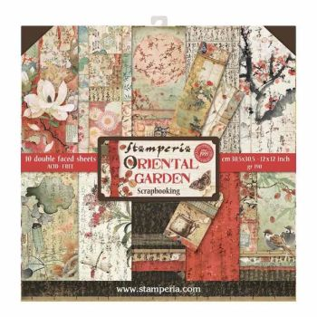 New Product : Stamperia Oriental Garden 12 x 12 paper pad