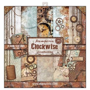 New Product : Stamperia Clockwise 12 x 12 paper pad