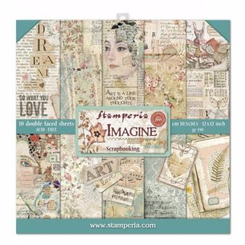 New Product : New Imagine 12 x 12 paper pad from Stamperia