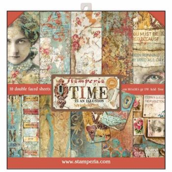 New Product : Time is an Illusion 12 x 12 paper pad from Stamperia