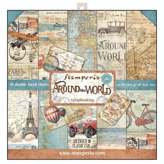 New Product : Stamperia Around the World 12 x 12 paper pad