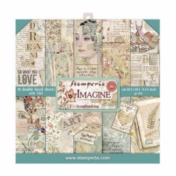 New Product : Stamperia Imagine 8x8 paper pad