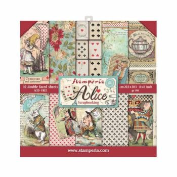 New Product : Stamperia Alice 8x8 paper pad