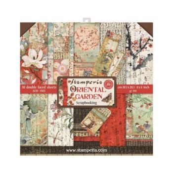 New Product : Oriental Garden 8x8 paper pad from Stamperia