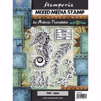 New Product : Stamperia Mixed Media Stamp set : Seaworld ,SEAHORSE