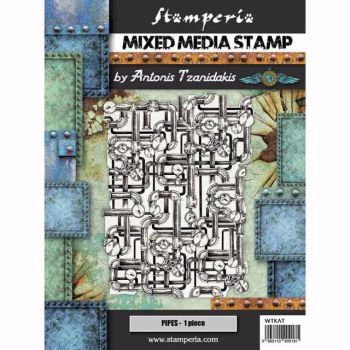 New Product : Stamperia mixed media stamp set : Seaworld : PIPING