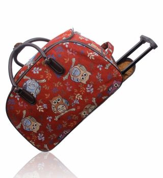 Crafters Stylish Trolley bag Red Owl