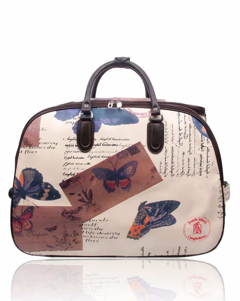 New Product : New stylish trolley bag in the Butterfly pattern