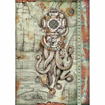 Stamperia  A4 Rice paper Sea World Octopus