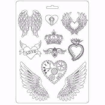Stamperia Hearts and Wings Soft Mould