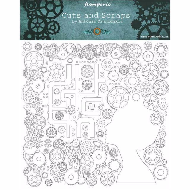 Stamperia Greyboard : Lady and Gears