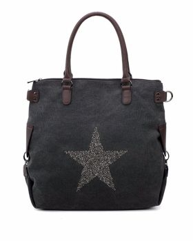 Large canvas tote : Sparkle Star
