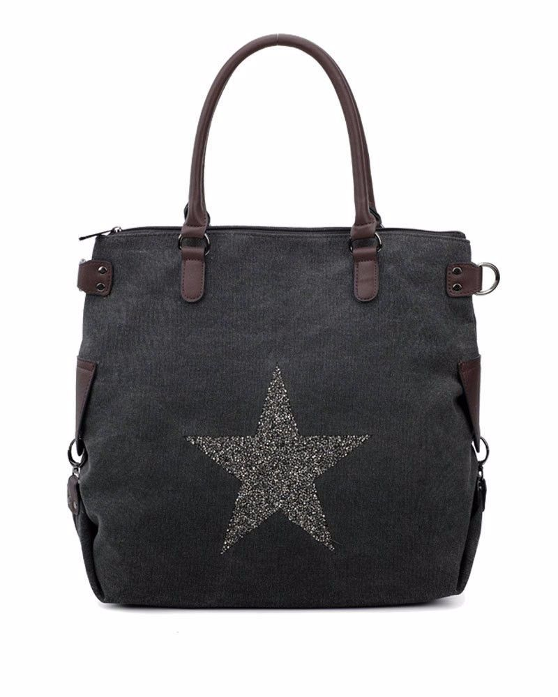 New Product : Large Stylish Tote bag with Sparkle Star