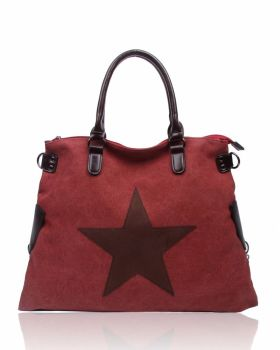 Large canvas Tote : Burgundy