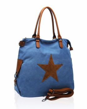 Large canvas tote : Blue