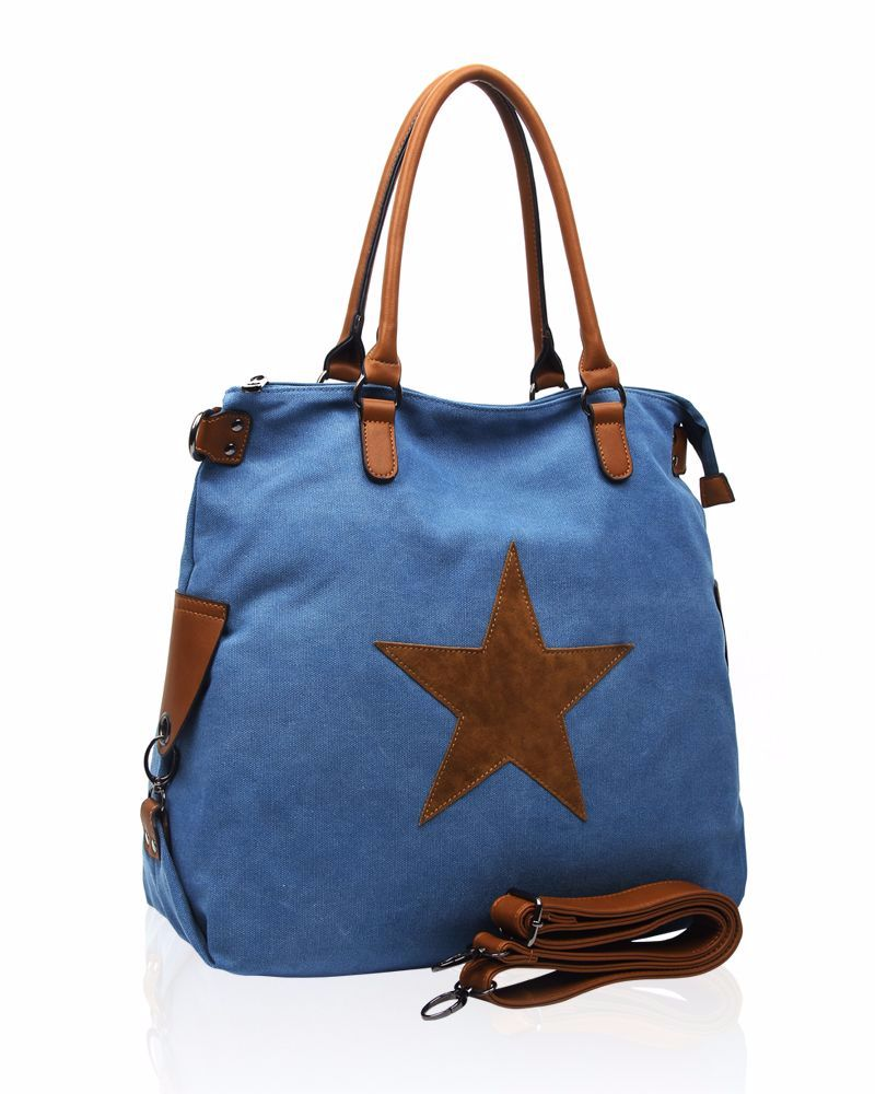 New Product : Large canvas tote : Blue