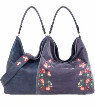 New Product : Stylish large reversible embroidered tote