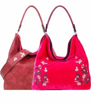 Large Stylish reversible tote bag Red