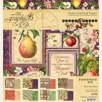 Graphic 45 Fruit and Flora 8x8 Paper Pad