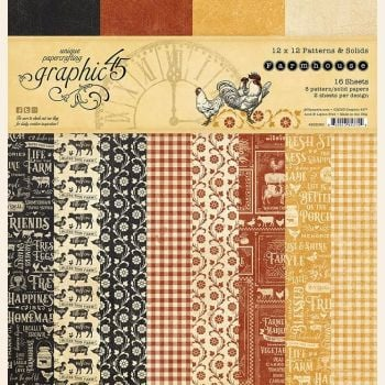 Graphic 45 Farmhouse 12x12 Patterns & Solids Pad