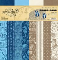 Graphic 45 Ocean Blue 12x12 Patterns & Solids Pad