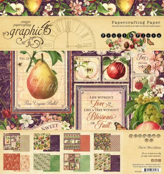 Graphic 45 Fruit and Flora 12x12 collection pack