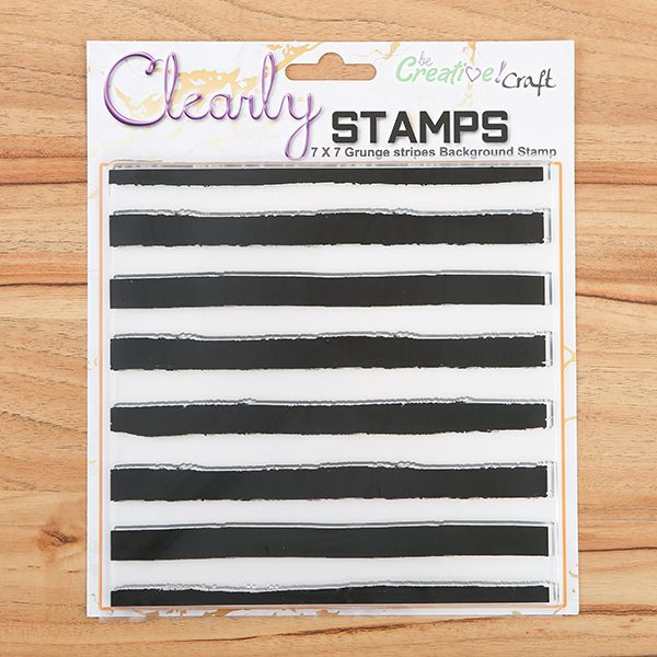 7x7 Grunge Stripes Background Clear Stamps