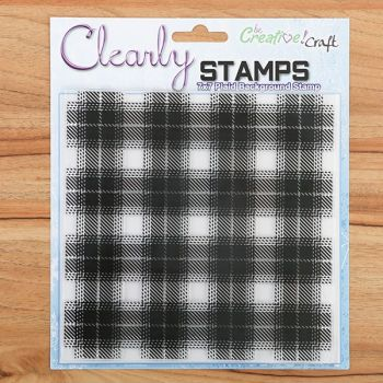 7x7 Plaid Background Clear Stamps