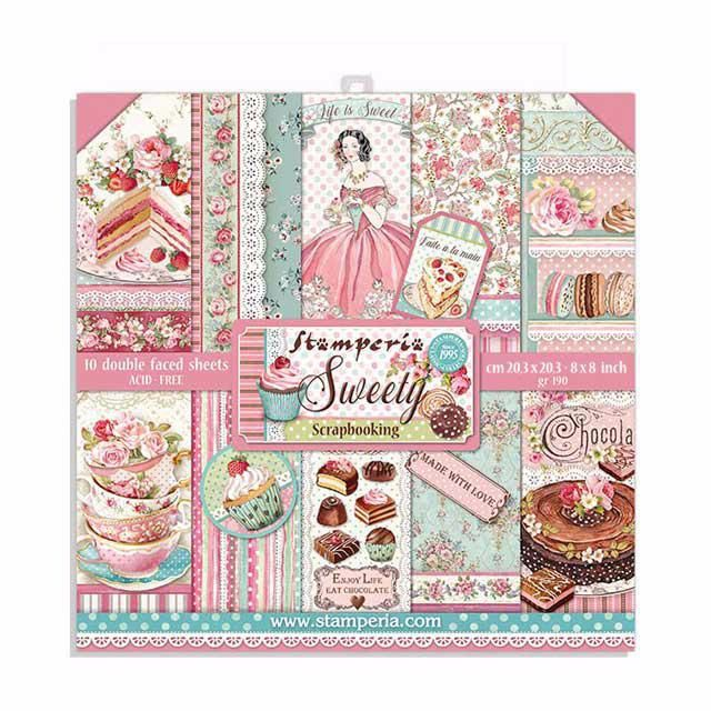 Stamperia 8x8 paper pad : SWEETY