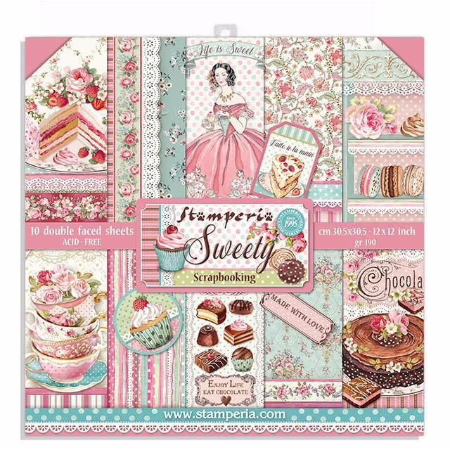 Stamperia 12 x 12 papper pad : sweety
