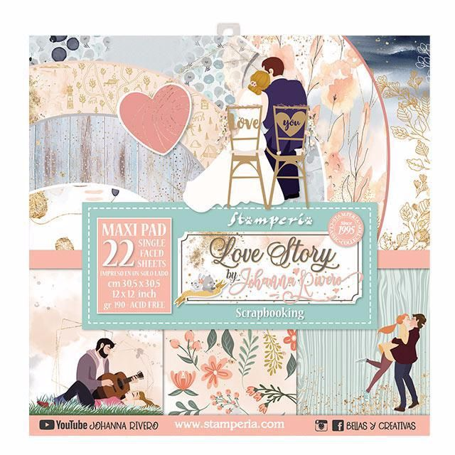 Stamperia Love Story 12 x 12 MAXI paper pad