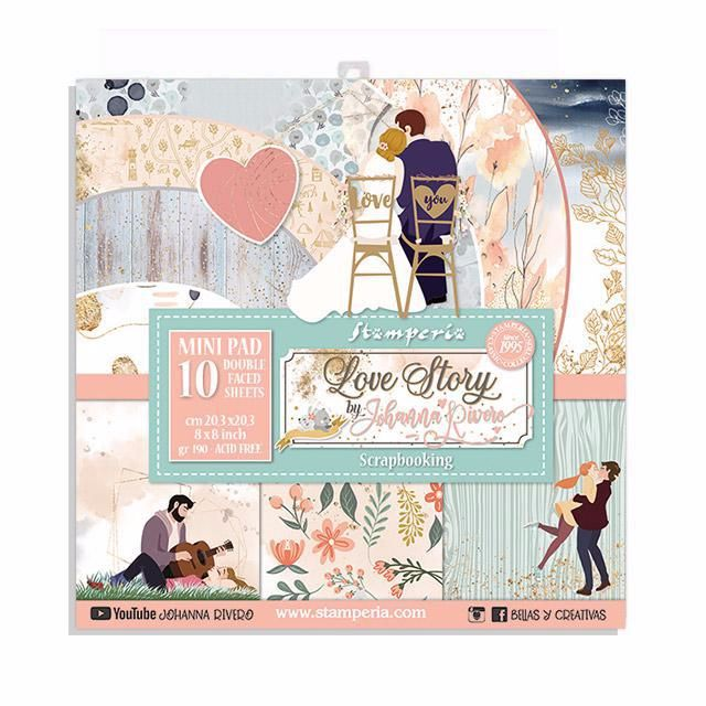 Stamperia Love Story 8x8 paper pad
