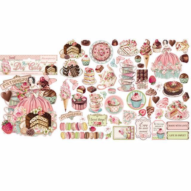 New Stamperia assorted die cuts : SWEETY
